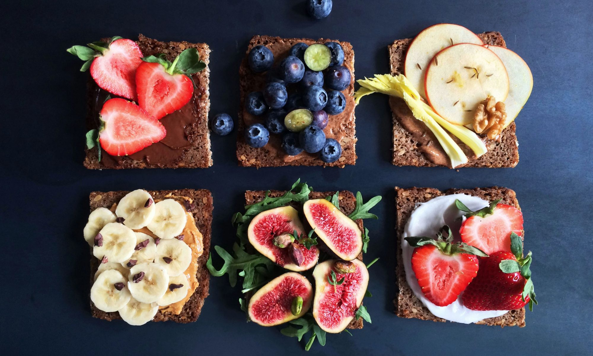 Simple + Healthy Sweet Breakfast Tartines recipe