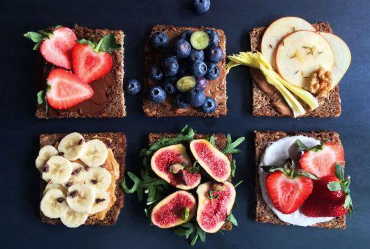 Simple + Healthy Sweet Breakfast Tartines recipe