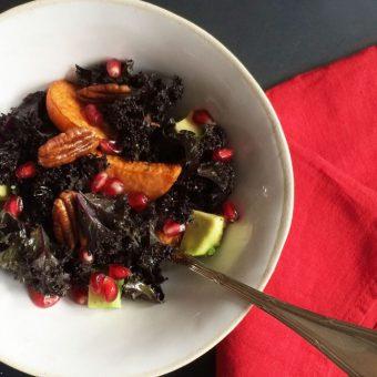 Simple + Healthy Christmas Kale Salad recipe