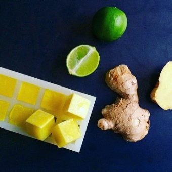 Simple + Healthy Ginger Ice Cubes recipe