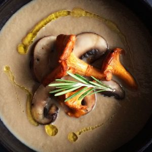 Wild Mushroom + Cannellini Bean Soup