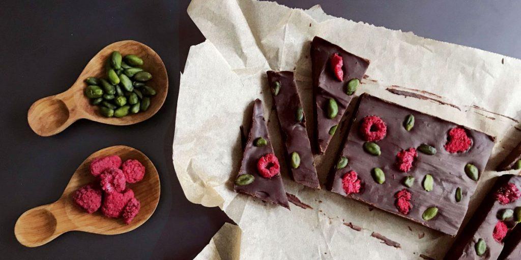 Simple + Healthy Fruit & Nut Chocolate Bark recipe