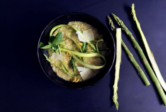 Simple + Healthy Asparagus Risotto recipe