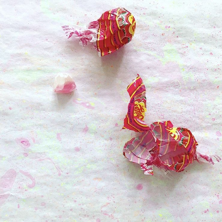 Lollipops wrappings from Simple + Healthy