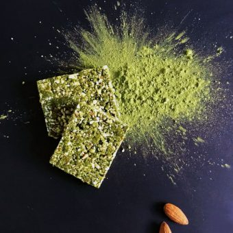 Simple + Healthy Matcha Squares recipe