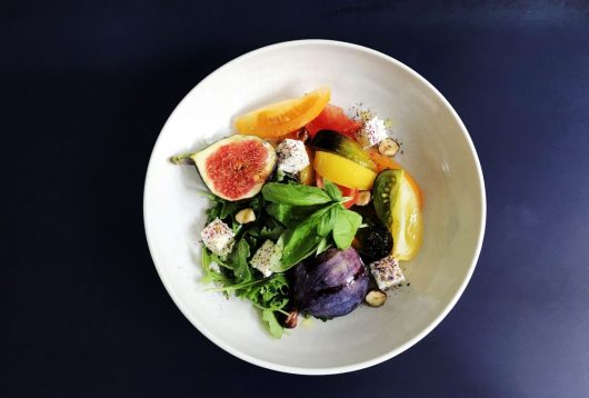 Simple + Healthy Fig, Rocket, Goat's Cheese + Tomato Salad